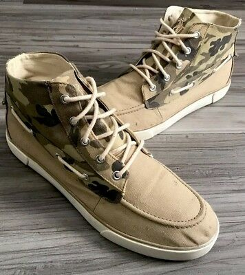 "Polo Ralph Lauren🏇🏽 ""Camouflage"" Lander Chukka High Canvas Sneaker Men Sz 10.5"
