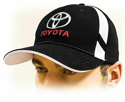 TOYOTA baseball Cap, Unisex Hat, black. Adjustable size with embroidered logo!