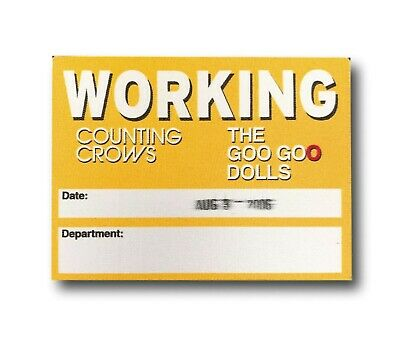 Goo Goo Dolls Counting Crows 2003 Authentic Vinyl Backstage Work Concert Pass