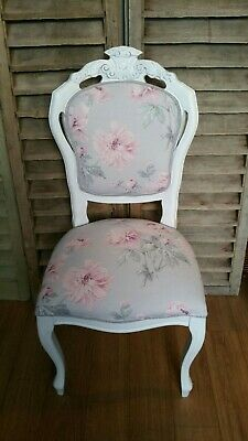 Laura Ashley boudoir chair and cushion cover  in Beatrice Cyclamen