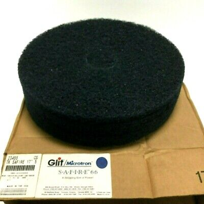 "Glit 23455 Microtron Safire 66 Floor Stripping Machine Pads 17"", Case of 5 Pads"