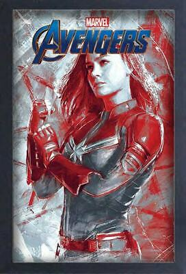 AVENGERS ENDGAME CAPTAIN MARVEL 13x19 FRAMED GELCOAT POSTER MOVIE COMICS NEW FUN