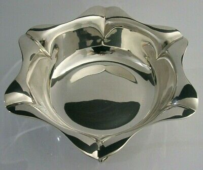 STUNNING ENGLISH ART NOUVEAU SOLID STERLING SILVER BOWL DISH 1902 ANTIQUE 275g