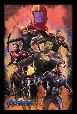 AVENGERS ENDGAME CHARACTERS 13x19 FRAMED GELCOAT POSTER MARVEL MOVIES COMICS NEW