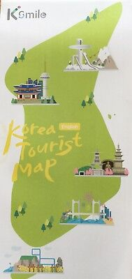 KOREA Tourist Map - Main Areas - Seoul Subway Map - Free UK Postage