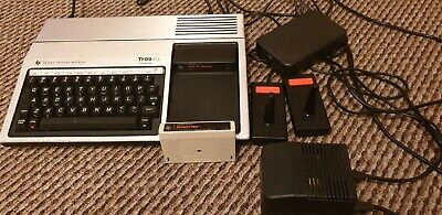 Texas Ti-99/4a Computer Bundle fully working games joystick leads and games