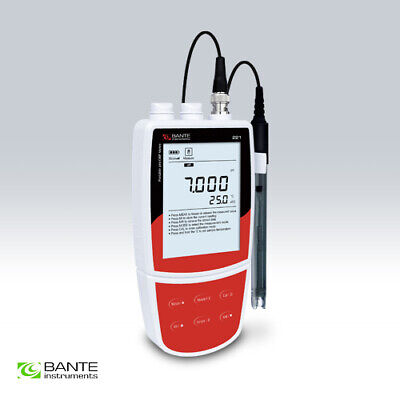 Bante221 Portable pH/ORP Meter 0.002pH Accuracy Backlit LCD Display w Electrode