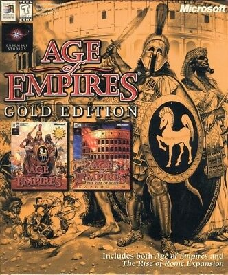 AGE OF EMPIRES 1 & RISE OF ROME 1999 ED. +1Clk Windows 10 8 7 Vista XP Install