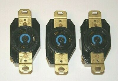 Hubbell Twist-Lock Receptacle 30A 250V Lot of 3