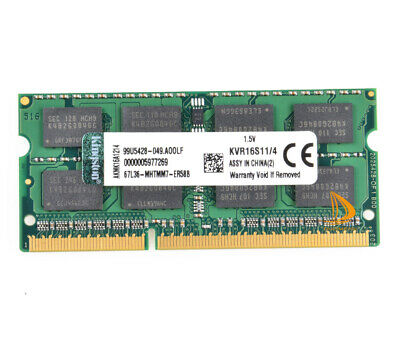 For Kingston 4GB 2RX8 PC3-12800S DDR3 1600Mhz SO-DIMM 204Pin Notebook Memory RAM