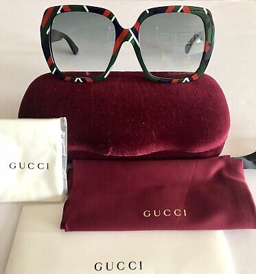 4a260290ce Gucci sunglasses Women s GG0096SA Square Gradient New 100% Auth Made In  Italy
