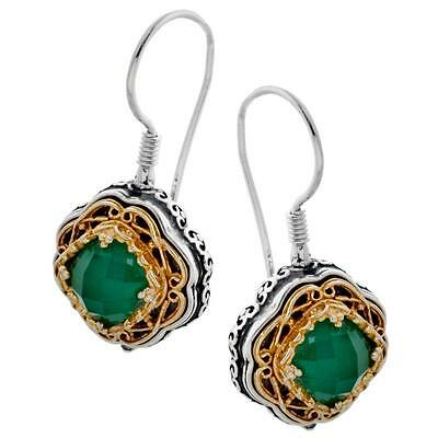 S223 ~ Sterling Silver & Swarovski Medieval Drop Earrings