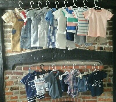 Baby Boy Clothes Bundle 3-6 months Summer outfits mix & match, Next & many more