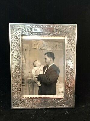 Vintage Lebkuecher & Company Sterling Silver Baby Picture Frame - Hugh Downs