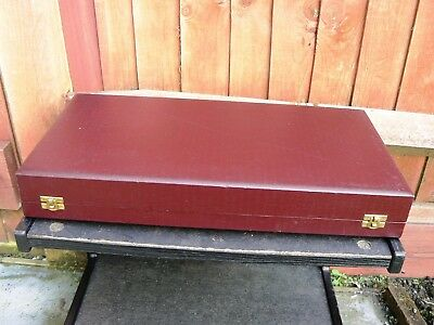 Vintage Wooden Storage Box with Internal Velvet Lining