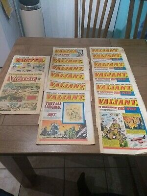 Valiant comic X 12 1965-1967 plus 2 others. Mostly fair condition.