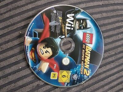 * LEGO BATMAN 2 * DC SUPER HEROES * Nintendo Wii Game disc only