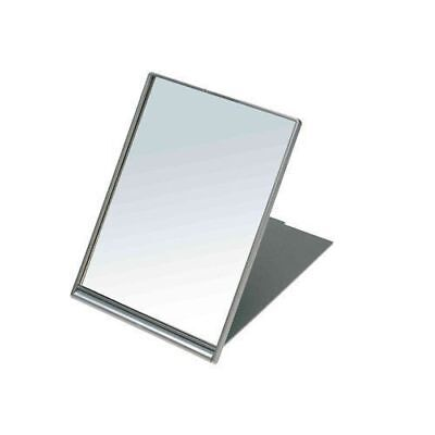 Sibel Folding Mirror 13 X 17Cm Silver Stand Travel Lightweight Shaving Make-Up