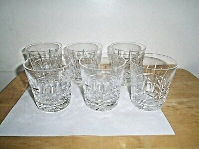 """Vintage """"SET of (6) Waterford Crystal Kylemore-Old Fashioned Whiskey Glasses"""""""
