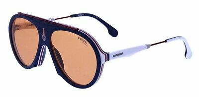 c43e6b2777 New CARRERA Special Edition Flag 8RU Blue Orange Lenses 57mm Unisex  Sunglasses