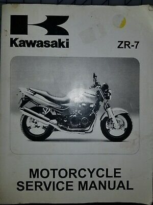 Kawasaki Zr750f Zr 7 Motorcycle Manual 1999 2003 99924 1248 04