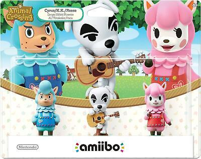 Amiibo Animal Crossing (Cyrus, K.K., Reese) Nintendo - 3-Pack - Brand New