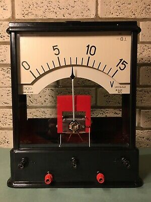 Fabulous Black Bakelite Russian Electrical Demonstration Test Meter