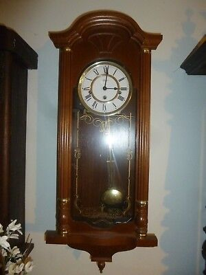 Beautiful HERMLE German Wooden Westminster Chime Wall Clock