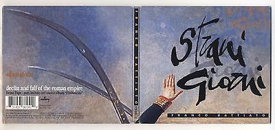 Cd FRANCO BATTIATO Strani giorni Cds single singolo PERFETTO 1996 + Demo