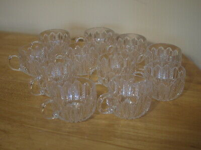 "ANTIQUE Mardi Gras Pressed Glass Punch Bowl W/Pedestal,14 Cups. 14"" Wide."