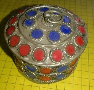 Extremely Ancient Medieval Silver Trinket Box Trinket Very Stunning