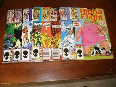 Alpha Flight 22,23,24,25,26,27,28,29 1985 vfnm Marvel comic lot