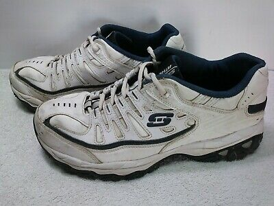 Men/'s Skechers SN50127EWW Reprint White//Navy Athletic Wide Width 35S New!
