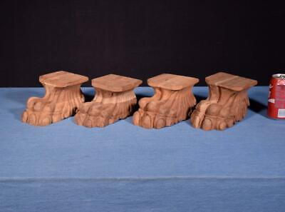*Carved Claw Foot/Leg Solid Mahogany Trim Salvage (4 AVAILABLE)