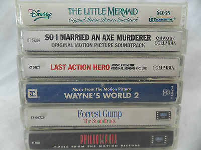 Lot 6 Movie Soundtrack Cassettes Little Mermaid Married Axe Murder Forrest Gump