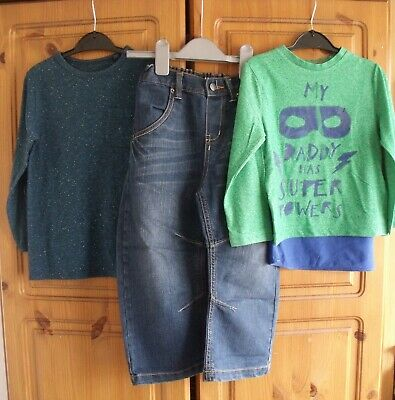 boys outfits top, shirt and jeans Next, TU 3-4 years