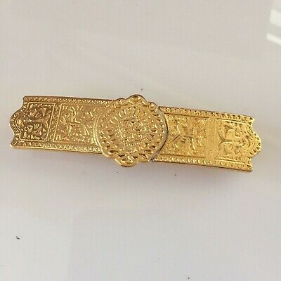 New Vintage DOTTY SMITH Two Piece Gold Tone Belt Buckle