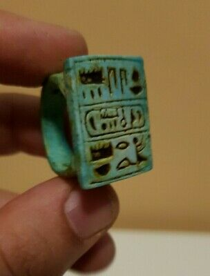 RARE ANCIENT EGYPTIAN ANTIQUES EGYPT RING Talisman STONE Egypt Luxor Stone BC
