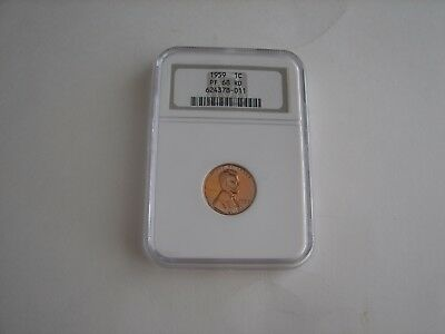 1959 1 Cent Proof 68 Rd Ngc Certified Lincoln Cent Penny