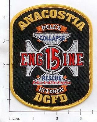 Washington DC - Engine 15 District of Columbia Fire Dept Patch - Collapse Rescue