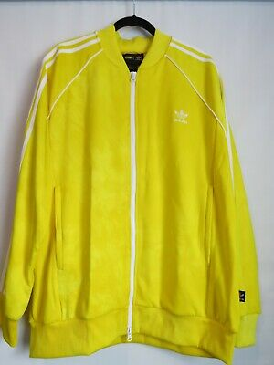 42e5ac092 Adidas Men s Pharrell Williams HU Holi SST Track Jacket - Yellow - Size X-