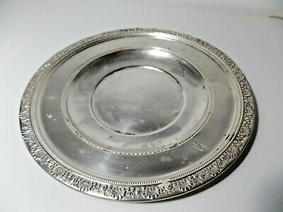 """Antique media sterling silver dinner plate 9.5"""" SCRAP OR NOT!"""