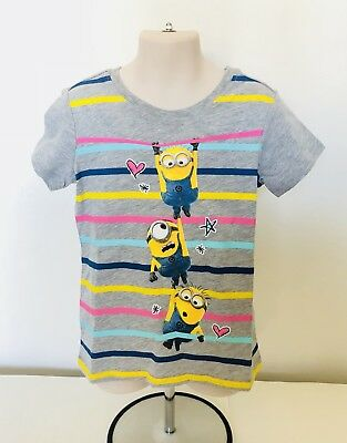 Official Minions Despicable Me 1 2 3 T-Shirt Kids Girls (Size XS 4/5)