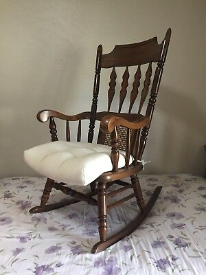 Brilliant Stunning Antique Wooden Rocking Chair Made In Yugoslavia Ocoug Best Dining Table And Chair Ideas Images Ocougorg