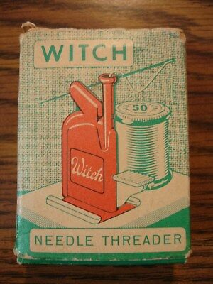 Vintage Witch Automatic Needle Threader West Germany New in Box w/ Instructions