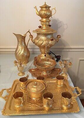 New never Used Electric Persian Samovar Tea Set With All Accessories Included