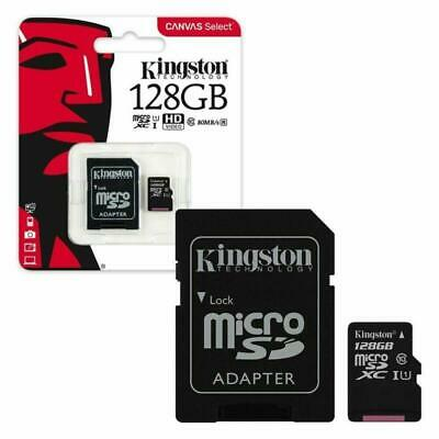 128GB Kingston Canvas Select Micro SD Memory Card 80MB/S UHS-1 Class 10 +ADAPTER