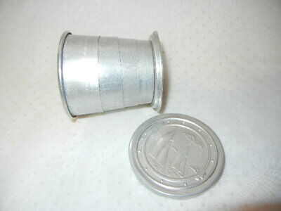 VINTAGE COLLASPING ALUMINUM CAMPING CUP SAILING SCENE 1940-50's USA