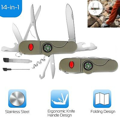 Multitool Swiss Army Classic Style Pocket Knife Camping Survival Outdoors Gift