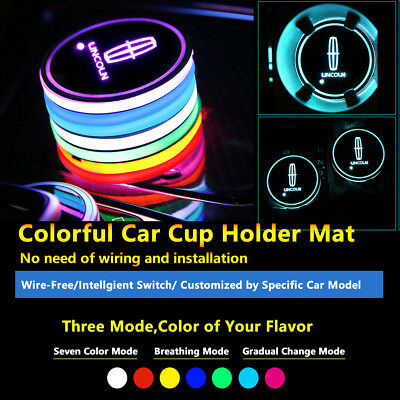 2pcs Colorful LED Coaster Atmosphere Car Light Bulbs For Lincoln Neon Lights